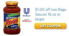 $1 off Two 16 oz Ragu Sauces HERE: http://freestuffblog.com/coupons-and-savings/ragu-sauces-coupon/
