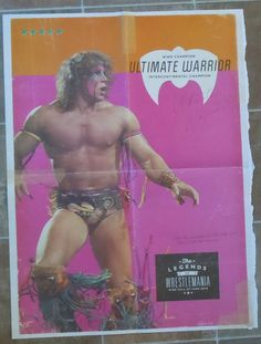 Wwe Wrestling Double Sided John Cena Ultimate Warrior 22 x 15 Poster WWF Raw Smackdown Magazine by TheWrestlingBurn on Etsy