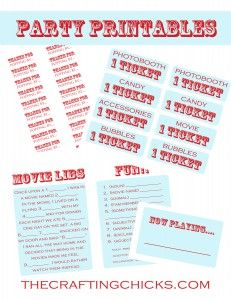 movie party night - cute ideas on this blog post
