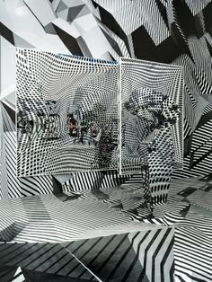 Home and Away and Outside by Tobias Rehberger - News - Frameweb Tobias Rehberger, Dazzle Camouflage, Op Art, Optical Illusions, Art Plastique, Installation Art, Art Installations, Frankfurt, Illustration