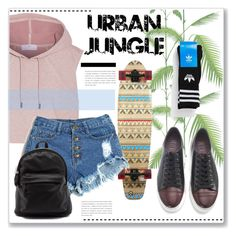"""""""Urban Style."""" by artemisia-art ❤ liked on Polyvore featuring adidas, Cole & Son, women's clothing, women, female, woman, misses and juniors"""