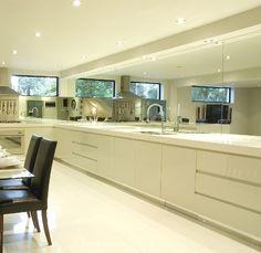 Mirror Splashback Kitchen And Living Room Reno Pinterest