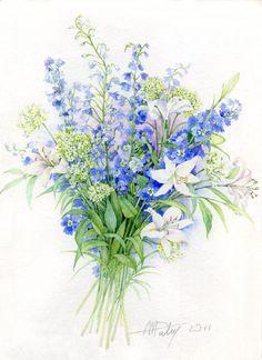 flower drawing wallpaper Hand Painted The varicolored world plant vegetation illustration