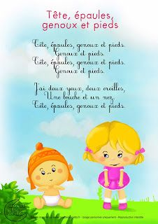 Learn French the Easy Way Camp Songs, Kids Songs, Teaching French, Micro Creche, French Poems, French Nursery, Body Preschool, Montessori, Educational Activities