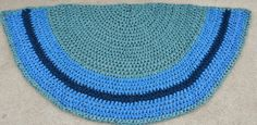Upcycled Half Circle / Slice Crochet Rag by AGStitchesnSplinters, $100.00