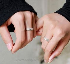 06ffe67727 Love Forever Engraved His and Her Promise Rings for valentines Couple Gifts,  Couple Stuff,