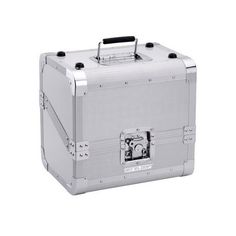 PROMOTION = 69 € TTC Reloop 80 CASE 50/50 SLANTED SILVER Valise aluminium de transport pour 80 vinyles