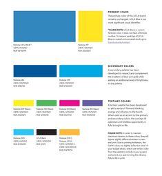 UCLA Brand 2014 |  The UCLA print color palette