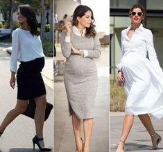 Pregnancy style, 6 outfit ideas - fashion as a lifestyle - Pregnancy Style - fashion fashion summer fashion winter outfits Kleidung Maternity Work Clothes, Stylish Maternity, Maternity Wear, Maternity Dresses, Maternity Looks, Professional Maternity Clothes, Maternity Boutique, Maternity Style, Maternity Photos