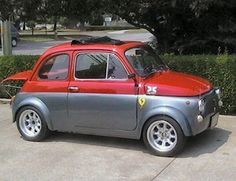 my cars grandfather Fiat 500 Abarth Now that is a proper Abarth 500.....with the boot properly stuck open.