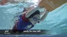 uSwim, level 2, skill 2 - Streamlined Float how to teach your child to swim, swimming lessons, via YouTube.
