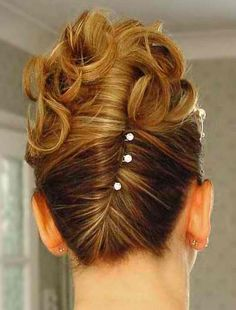 Formal short hairstyle love this for the ball. Got to learn how to do this on myself