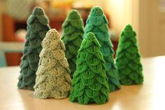 YARNFREAK: 1. Sonntag-in-Advent DIY: Bäume Crochet Weihnachten