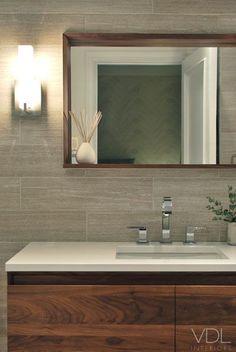 Timber framed mirror. VDL Interiors - bathroom remodel