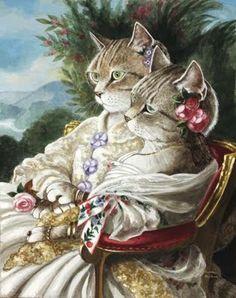 Cat Art...=^.^=...♥ Last Breath of Love...By Artist Unknown...