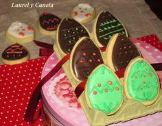 Laurel y Canela: Huevos de Pascua: galletas decoradas con glasa