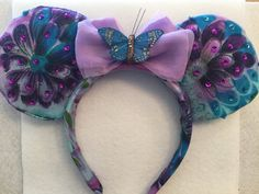 Flower and Garden  Custom Mickey Ears by FastpassToHappiness (Cute for any season..)