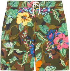 fd6e828ea2d7da Polo Ralph Lauren Hawaii Print Swim Shorts