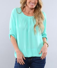 Look what I found on #zulily! Mint Rylie Top #zulilyfinds