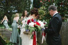 Whimsical Large Boquet Flowers Bride Bridal Ribbons Fairytale Woodland Antique Books Wedding http://www.debsivelja.com/