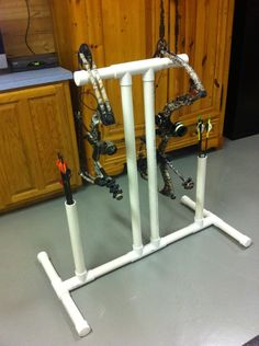 Bow stand. Need to make this for when we practice