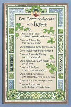 Ten Commandments for the Irish                                                                                                                                                     More