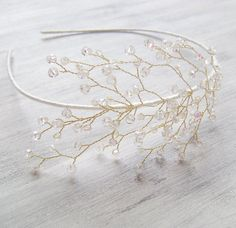 Bridal Crystals Tiara Wedding crystal headband by PrettyNatali, $35.00