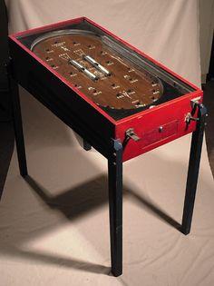 Charming Navyu201d Football Pinball Machine C.1930u0027s. Full Standing Wooden Pinball  Machine Featuring Painted Football Graphics On Playing Area.