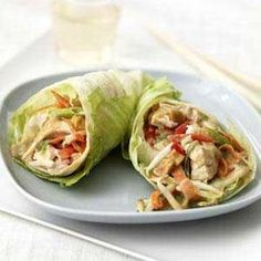 Chicken Salad filled Lettuce Cups via Gluten Free Chef 5 cups diced skinless cooked chicken cup diced red onion cup. Chicken Salad Lettuce Wrap Recipe, Thai Chicken Salad, Lettuce Cups, Lettuce Tacos, Primal Recipes, Real Food Recipes, Chicken Recipes, Healthy Recipes, Yummy Food