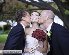A photo with the two most important men in your life. Memorable #pose for #bride with #groom and father of the bride.   Wedding Ideas by  http://www.iwedtv.com Photo by: http://www.iwedcine.com