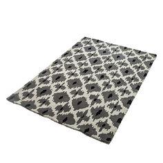Teppich Schwarz Weiß Grau Wolle - 3 Größen- Wohnzimmer Vorleger Läufer Flor NEU | eBay