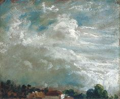 John Constable - Study of Clouds Horizon of Trees