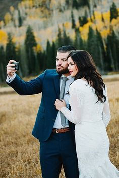 Gorgeous Fall Bridals In The Utah Mountains | Lori Romney Photography | via Mountainside Bride
