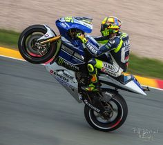 Valentino Rossi at the Moto-GP Race on Sachsenring 2013