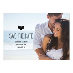"Simple Photo Save the Date 5"" X 7"" Invitation Card"