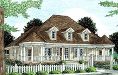 Country Style House Plans - 2349 Square Foot Home , 2 Story, 4 Bedroom and 3 Bath, 2 Garage Stalls by Monster House Plans - Plan 11-236