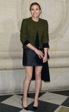 Elizabeth Olsen looks stunning at Paris Fashion Week!