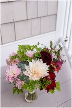 wedding bouquet. Cape Neddick Intimate Wedding Photos by Linda Barry Photography