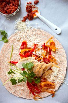 Burrito Wrap, Fajitas, Burritos, Enchiladas, Finger Foods, Vegetable Pizza, Hummus, Sandwiches, Tacos