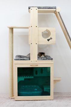 Lovely modular cat tree with scratching opps! #cats #CatTree