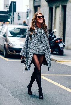 January 11, 2014 Tags Dolce & Gabbana, Plaid, FW14 Men's, Anna Dello Russo, Bags, Milan, Women, Coats, Sunglasses, Chanel