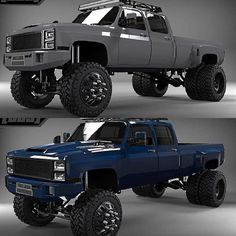 jeeps and trucks Dually Trucks, Chevy Pickup Trucks, Gm Trucks, Chevy Pickups, Chevrolet Trucks, Diesel Trucks, Cool Trucks, Dodge Diesel, Chevy 4x4