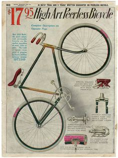 High Art Peerless Bicycle Sears 1910