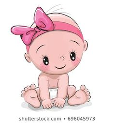 Animated Cute Baby Images Storks Movie Cute Cartoon Baby Girl Isolated On White Background Shutterstock Baby Cartoon Images Stock Photos Vectors Shutterstock