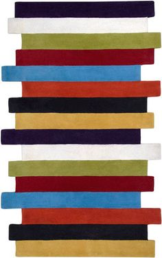 modernrugs.com multicolored striped rug
