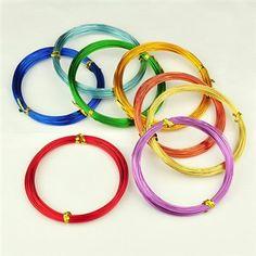 алюминиевых проводов, разноцветные, 0.8 мм; около 10 м / рулон