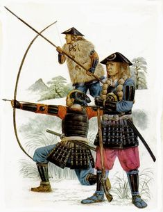 Ashigaru bowman. arquebusier and foot soldier 1576 - 1615.