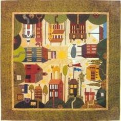 A Block Of The Month quilt by Quakertown
