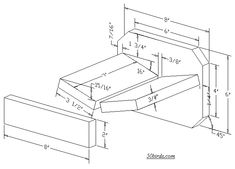 Plans and Dimensions - Open Platform for Robins, Phoebes, Doves, Blue Jays     Wear Eye Protection