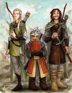Rescue Team by CaptBexx on deviantART | This is away too cute omg just lOOK at Aragorn's fACE